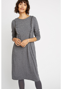 Indria Dress Grey Melange - People Tree