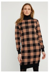 Kleid - Millie Checked Knitted Dress - People Tree