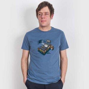 Robert Richter – Sleep Modus - Mens Fair Share Organic Cotton T‑Shirt - Nikkifaktur
