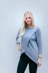 Umstands- und Stillpulli: Sweater Baseline in goblin blue - stillfashion