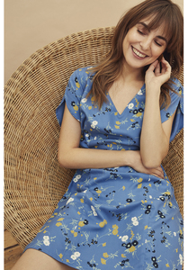 Tencel Kleid - Shelli Floral Dress - Blue - People Tree
