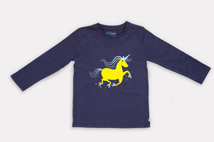 Unique Einhorn Langarm-Shirt - Cooee Kids