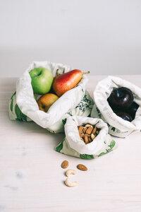 3er Set Lebensmittel Beutel - bedruckt - Gaia Wrap