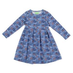 Mädchenkleid Jersey wolves blue - Lily Balou