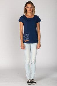Basic Bio-T-Shirt Rundhals La Poche Bluebird - Brandless