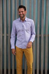 Nachhaltige Langarm Herren Hemd Flamingo Fun Slim Fit Bio Baumwolle - SKOT Fashion