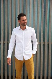 Nachhaltige Langarm Herren Hemd Serious White Twill Slim Fit  - SKOT Fashion