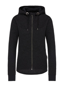 Waffle Deluxe Sweatjacket black waffle - recolution
