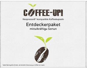 Coffee-Up-Entdeckerpaket: 7 mittelkräftige Sorten – kompostierbare & aluminiumfreie Bio-Kaffeekapseln, Nespresso® kompatibel  - Coffee-Up!
