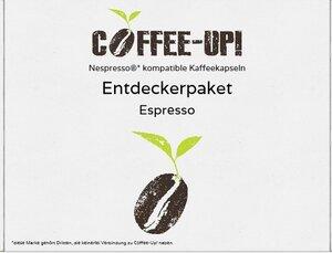 Coffee-Up-Entdeckerpaket: 18 verschiedene Sorten Espresso-Kaffeekapseln – aluminiumfrei, kompostierbar & Nespresso® kompatibel  - Coffee-Up!