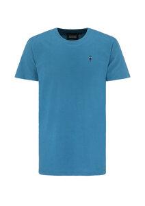 Basic T-Shirt #BIKE blau - recolution