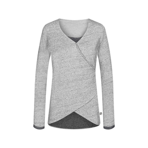 Wrapped Longsleeve Ladies Grey - bleed clothing GmbH