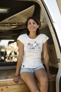 "Bio T-Shirt ""Lea Damenrad white""  - Zerum"