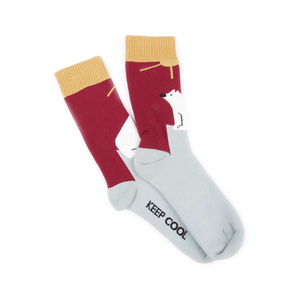 Save The Arctic Socks Red - bleed