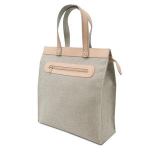 Einkaufstasche aus Leinen und Leder - Thielemann