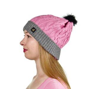Alpaka Damen Mütze Andrea mit Bommel One Size 100% Alpaka  - AlpacaOne