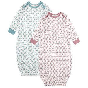 Schlafhemd für Babys mit Eulen - Schlafhemd für Babys mit Eulen