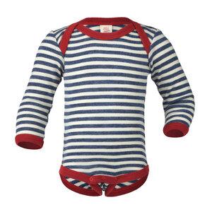 Baby / Kinder Body Langarm Schurwolle kbT - Engel natur