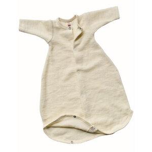 Baby Schlafsäckchen langarm Schurwolle kbT - Engel natur
