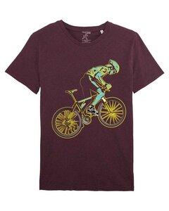 Bio T-Shirt mit Rennrad, Bio Shirt mit Rennradfahrer, Bike Shirt,  - YTWOO