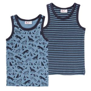 Jungen Unterhemden Set - Blau - People Wear Organic