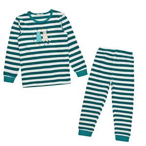 Kinder Frottee Schlafanzug geringelt, Bären - Sense Organics & friends in cooperation with GARY MASH