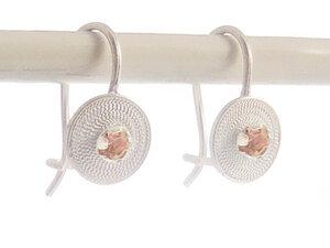 Ohrringe kleine Spirale rosa Silber - Filigrana Schmuck