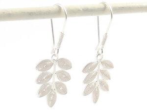 Ohrringe sieben Blättchen Silber - Filigrana Schmuck