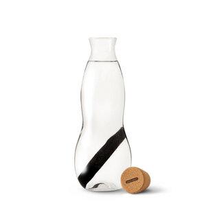 """Wasserkaraffe aus Glas """"Eau Carafe"""" mirt Aktivkohlefilter - 1 Liter - Black + Blum"""