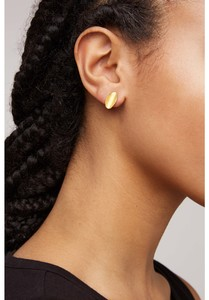 Ohrring - Curled Leaf Stud Earrings - People Tree