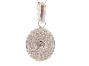 Anhänger kleine Spirale weiß Silber - Filigrana Schmuck