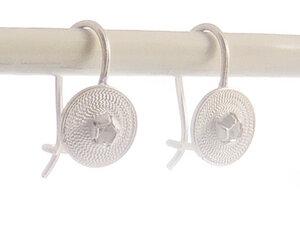 Ohrringe kleine Spirale weiß Silber - Filigrana Schmuck