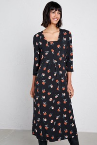 Kleid - Seed Packet Dress - Berry Flower Dark Night - Seasalt Cornwall