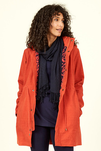 Organic Cotton Raincoat - Saffron - Nomads Fair Trade Fashion