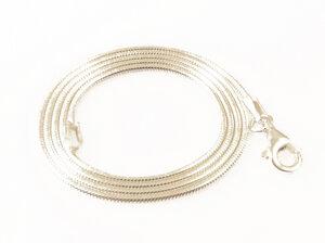 Schlangenkette aus recyceltem 925er Silber 45 cm - Filigrana Schmuck