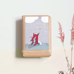 """Postkarte """"Fuchs und Gans"""" - noull"""
