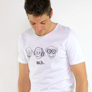 Shirt Affengeil aus Biobaumwolle Weiß - Gary Mash