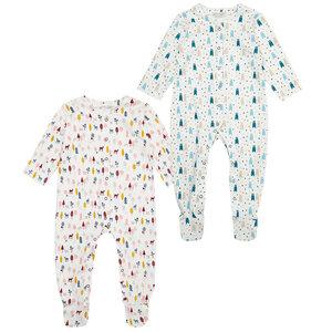 Baby Schlafanzug mit Füßen, Tiermotive - Sense Organics & friends in cooperation with GARY MASH