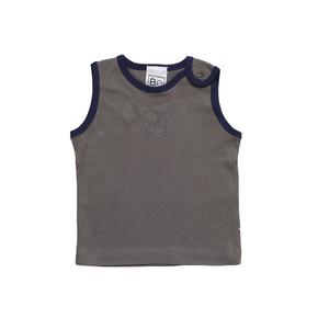 Ärmelloses T-Shirt mit Engel Stickerei  - Biologischer Pima Baumwolle - B.e Quality