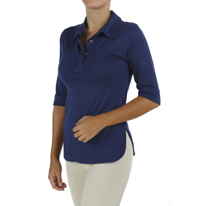 Polo T Shirt mit 3/4 Ärmel - Biologischer Pima Baumwolle - B.e Quality