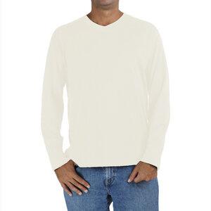 Raglan Langarm-T Shirt mit V Ausschnitt - Biologischer Pima Baumwolle - B.e Quality