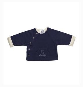 Reversible Jacke und Engel Stickerei- Biologischer Pima Baumwolle - B.e Quality