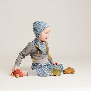 "Langarm Baby-Shirt ""Interlock Doubleface Grau"" aus 100% Bio-Baumwolle - Cheeky Apple"