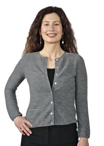 Strickjacke 100% Baby Alpaka Lisa Damen - AlpacaOne