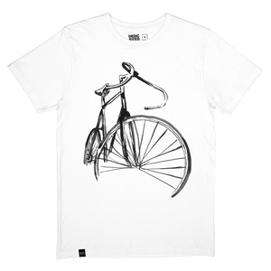 T-shirt Stockholm Sketch Bike white - DEDICATED