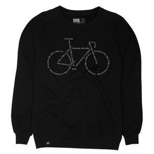 Sweatshirt Malmoe Text Bike / Black - DEDICATED