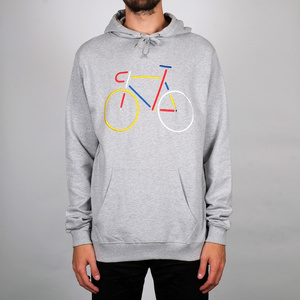 Hoodie Falun Color Bike / Grey Melange - DEDICATED