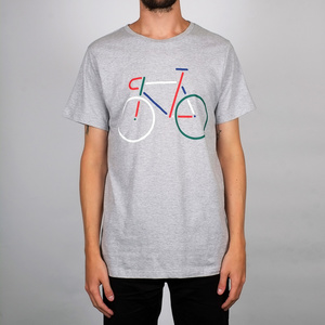 T-shirt Stockholm Color Bike grey melang - DEDICATED