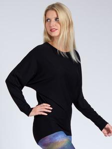 Sweater ANNA aus weichem TENCEL® mit Biobaumwolle, Schwarz - Magadi