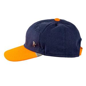 "Basecap ""Kumpel"" - dunkelblau-orange - ReHats Berlin"